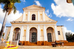 The main church of the UNESCO World Heritage old town of Trinidad, Cuba Royalty Free Stock Images