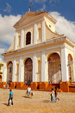 The main church of the UNESCO World Heritage old town of Trinidad, Cuba Royalty Free Stock Photography