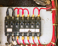 Main circuit box breaker in factory. Stock Photos