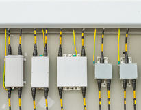 Main circuit box breaker in factory. Stock Image