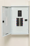 Main circuit breaker in factory. Main circuit box breaker in factory Stock Photo