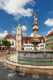 Main City Square in Old Town in Bratislava, Slovakia Royalty Free Stock Photography