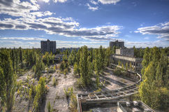 Main city square in Pripyat (HDR) Stock Images