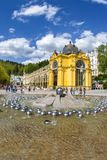 Main colonnade and Singing fountain in the small west bohemian spa town Marianske Lazne Marienbad - Czech Republic Stock Photography