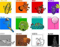 Main colors cartoon collection Stock Photo