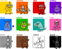Main colors cartoon set Stock Photography