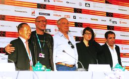 Main competition jury of Moscow Film Festival Stock Image