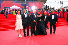 Main competition jury members of Moscow Film Festival Royalty Free Stock Photography