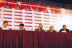 Main competition jury members, 38th Moscow International Film Festival Royalty Free Stock Image