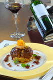 Main course with wine Royalty Free Stock Photos