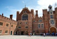 Main Court at Hampton Court Palace near London Royalty Free Stock Photo