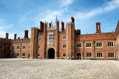 Main Court at Hampton Court Palace near London Stock Image