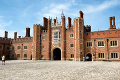 Main Court at Hampton Court Palace near London Royalty Free Stock Image