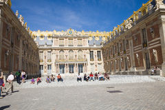 Main court of Versailles chateau Royalty Free Stock Images