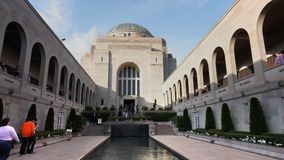Main courtyard of the australian war memorial stock video