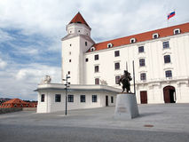 Main courtyard of Bratislava Castle, Slovakia Royalty Free Stock Photos