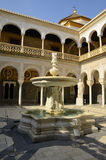 Main courtyard in Casa de Pilatos Royalty Free Stock Images