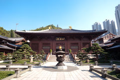 Main courtyard at Chi Lin Nunnery, Hong Kong Stock Photos