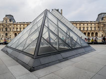 Main courtyard of the Louvre Museum Stock Photography