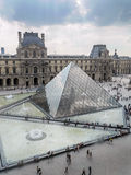 Main courtyard of the Louvre Museum Royalty Free Stock Image