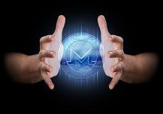 Main créant Cryptocurrency Images libres de droits