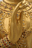 Main d'or photo libre de droits