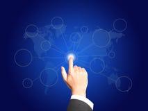 Main d'affaires avec le concept de connexion illustration libre de droits