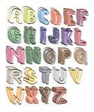 Main d'alphabet marquée avec des lettres Image stock
