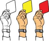 Main d'arbitre affichant la carte Image libre de droits