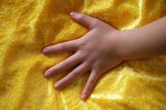 Main d'enfant Photo stock