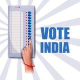 Main d'exposition de bannière d'affiche des personnes indiennes pour la campagne de vote d'élection et de vote de l'Inde illustration libre de droits