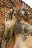 Main d'exposition de statue de Bouddha de ciment  Image libre de droits