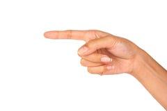 Main d'isolement de main sur le fond blanc Image libre de droits