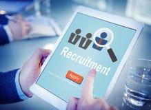 Main d'oeuvre de location de recrutement recrutant des cadres le concept de stratégie Photo stock