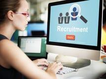 Main d'oeuvre de location de recrutement recrutant des cadres le concept de stratégie Image libre de droits
