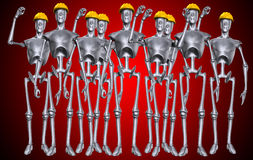 Main d'oeuvre robotique Images stock