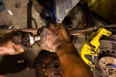 Main d'un ouvrier photo libre de droits