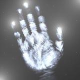 Main dans les étoiles Photo libre de droits