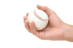main de base-ball Photos stock