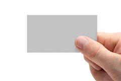 main de carte de visite professionnelle de visite Images libres de droits