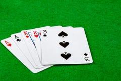 Main de carte de deux paires Image libre de droits