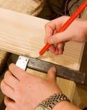 Main de charpentier avec le grand dos Image libre de droits