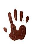 Main de chocolat Photo stock