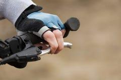 Main de cycliste Photos stock