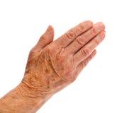 Main de femme âgée Images libres de droits