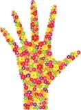 main de fleurs Images libres de droits