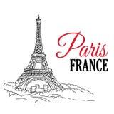 Main de Frances de Paris esquissée Photographie stock libre de droits
