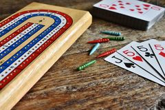 Main de gain de cribbage Image libre de droits