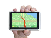 Main de GPS Images stock