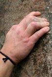 Main de groupe de grimpeur Images libres de droits